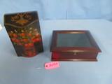 2 SMALL DECORATIVE BOXES