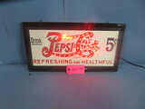 LIGHTED PEPSI SIGN  19 X 10