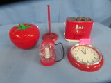 APPLE SLOW COOKER, SNOOPY HOT DOG MAKER, MISC.KITCHEN ITEMS