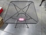 METAL PATIO UMBRELLA TABLE  30 X 30 X 30 T