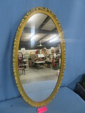 OVAL GOLD MIRROR  38