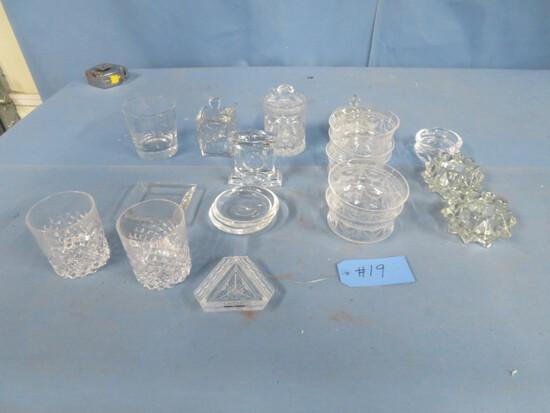 LARGE AMOUNT OF GLASS PCS