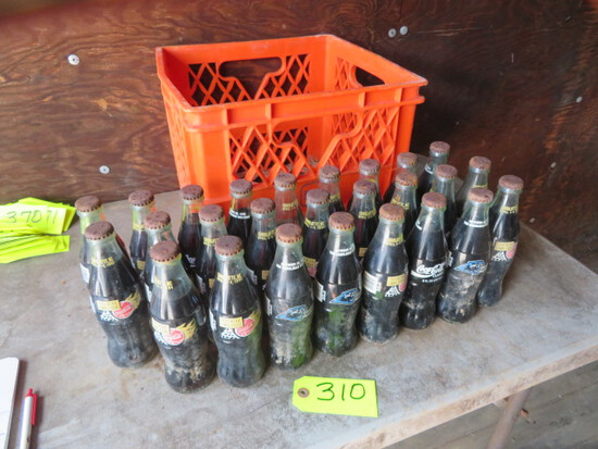 26 COCA COLA SODA BOTTLES- 1993 PANTHERS