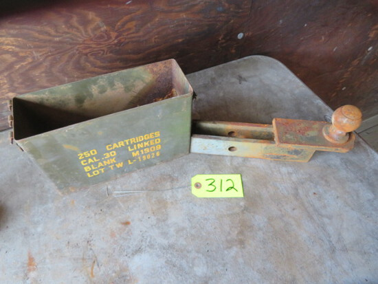 AMMO BOX AND CAR HITCH