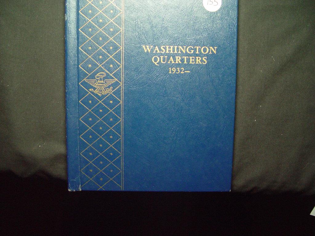25 Cent Washington Album 1932 - 1964  VG - AU Missing '32-D & '32-S  81 Total