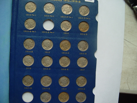 Set Of (63) Buffalo, Nickels, Missing The