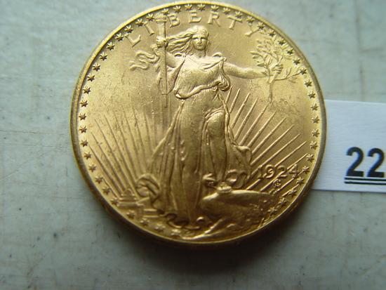 1924, St.- Gaudens $ 20 Gold Piece