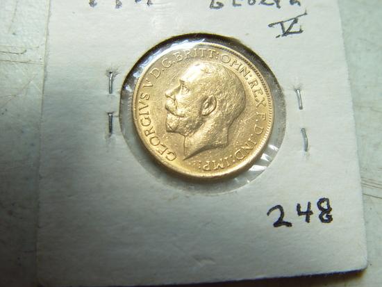 1911 British Gold Sovereign