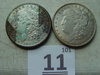 1921 Silver Dollars, One Is Corroded