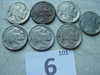 Buffalo Nickels, 28-S, 28, 26, 27, 28, 34 &