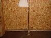 Floor lamp with onyx base insert  57 inches tall – 2 pics local pickup only