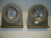 "2 outdoor ashtrays W/screws 9"" x 10"".3"