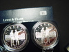 Pair of 2004 Proof Lewis & Clark Silver Dollars