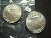 Pair of 1996 BU Silver Eagles   Better Date