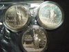 Three 1986 Statue of Liberty Silver Dollars: Two Proof & One BU