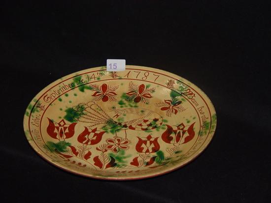 Sgraffito Bowl J D Huntley Columbus, WI | Art, Antiques