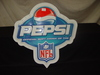 "Tin Pepsi NFL Sign 24.5""T x 23.5""W NIB"