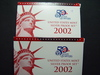 Two 2002 Silver Proof Sets