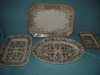 """(4) T & R Boote Ironstone Platters 17"""" & 13"""""""