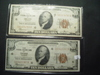 Pair of 1929 $10 Federal Reserve Bank of Chicago
