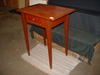 Tapered Leg, 1 Drawer Table, Contemporary