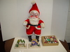 "Job Lot of Christmas Items, Santa 25""T, Paper Villages, &"