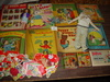 Vintage Cloth Doll, Valentines, & Books, Little Black Sambo &