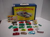 1968 Official Matchbox Collectors Case w/some Cars & Trucks