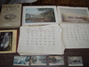 Job Lot of Currier & Ives, Calendar Pages from 1957 to 71, &