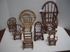 7 Pieces of Twig Doll Furniture