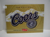 "Contemporary Coors Beer Metal Sign, 12.5""H x 16""W"