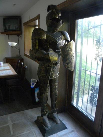 Full Size Coat of Armor Statue
