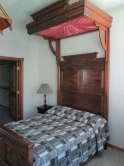 Carved Half Tester Bed