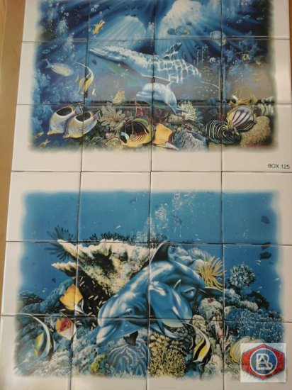 Mosaics dolphins