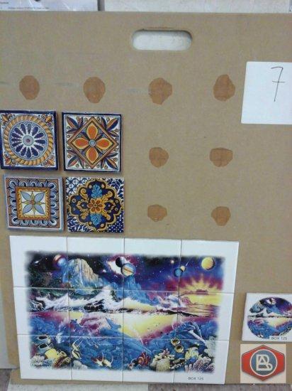 Mosaic with image + talavera tiles