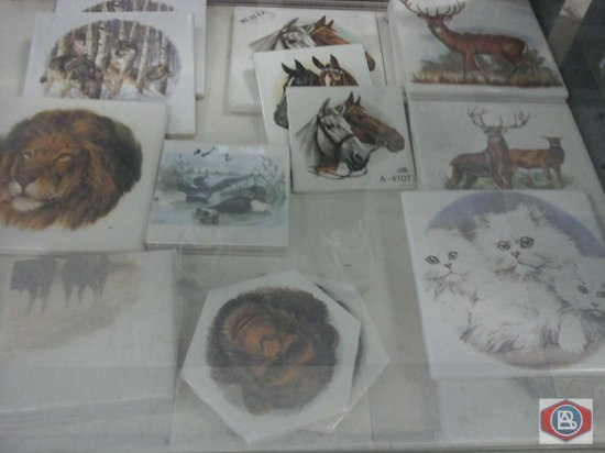 Decorated tiles animals