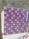 1 x 1 lavender glass