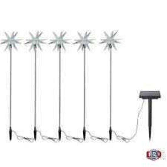 Hampton Bay 5 Starburst solar stakes
