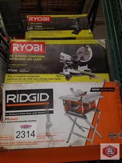 Ridgid and Ryobi