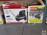 Ryobi pressure washer and Huskey Air compressor