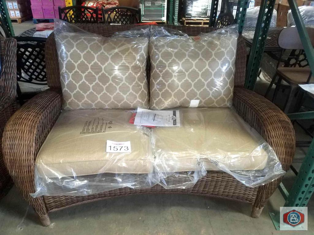Amazing Lot Hampton Bay Beacon Park Wicker Outdoor Loveseat With Forskolin Free Trial Chair Design Images Forskolin Free Trialorg