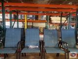 Blue hampton bay chairs 2 pcs