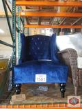 Couch chair navy blue