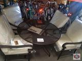 HAMPTON BAY SET OF CHAIRS AND TABLE