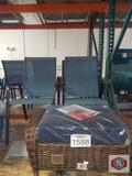 Hampton bay 2 chairs with outdoor cushions