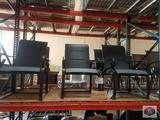 Hampton Bay Crestridge Padded Sling Spring Patio Dining Chair in Conley Denim 4 PCS