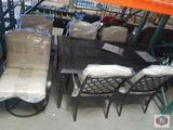 Hampton Bay Laurel Oaks 7-Piece Outdoor Dining Set