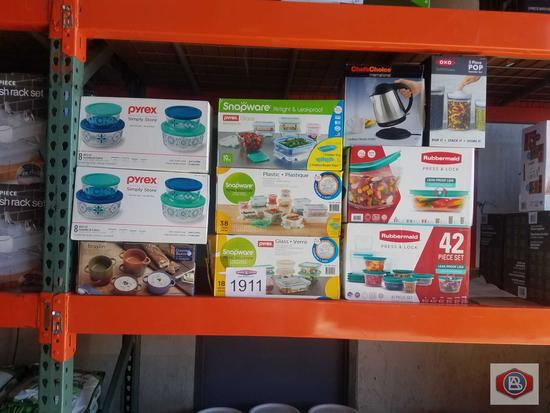 Pyrex Snapware Chef's Choice Rubbermaid and more 9 pcs
