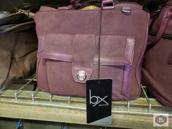 """Bx Buxton padded laptop tote protects Laptop's up 13"""" . Colors brown an purple"""