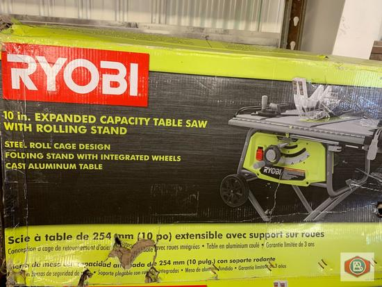 Ryobi 10 in Expanded Capacity table saw with Rolling stand Model. RTS22 / Ryobi 10? table saw